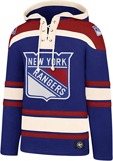 47 BRAND NEW YORK RANGERS LACER HOODIE