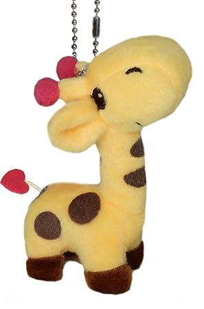 lucore feliz jirafa Animal de peluche Peluche Llavero ...