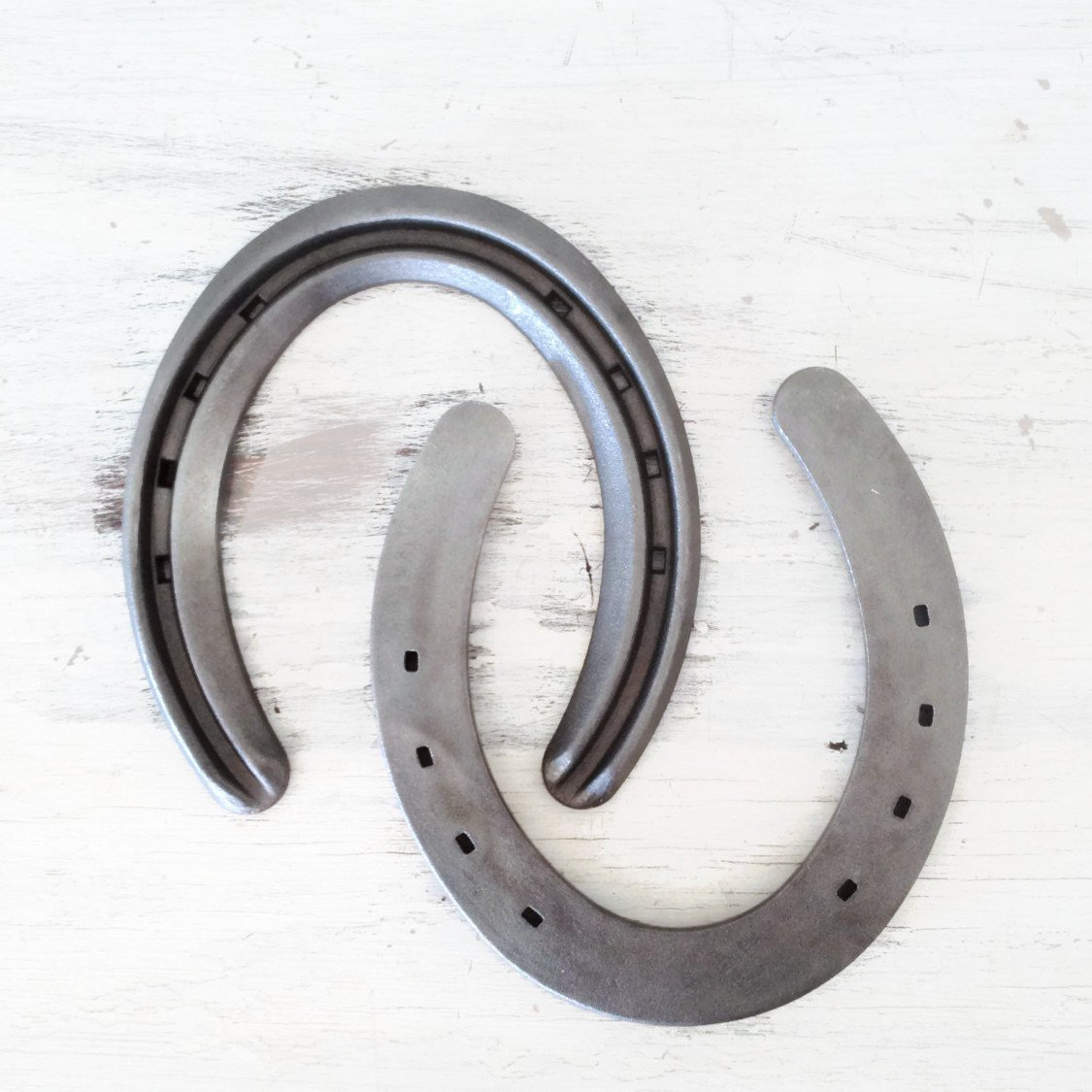 New Steel Horseshoes - Lite Rim Size 1 -Sand Blasted- Heritage Forge - 2 Shoes by The Heritage Forge (Image #2)
