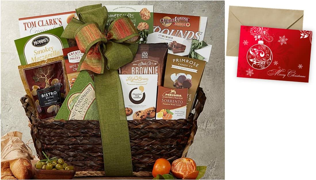 Gourmet Choice Gift Basket for Christmas and personalized card mailed seperately CD3239047