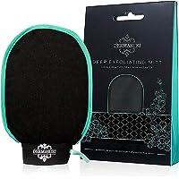 Dermasuri Deep Exfoliating Mitt Body Scrub for Soft Skin - Skin Cleanser - Part of the Best Body Care Kit for Women…