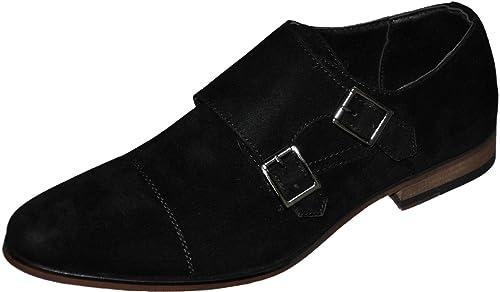 Galax gh3068n - Mocasines de doble hebilla interior de piel, negro (negro), 43 EU: Amazon.es: Zapatos y complementos