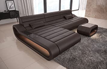 Fabulous Couch Concept Leather L Shaped Long Dark Brown Sofa Corner Download Free Architecture Designs Grimeyleaguecom