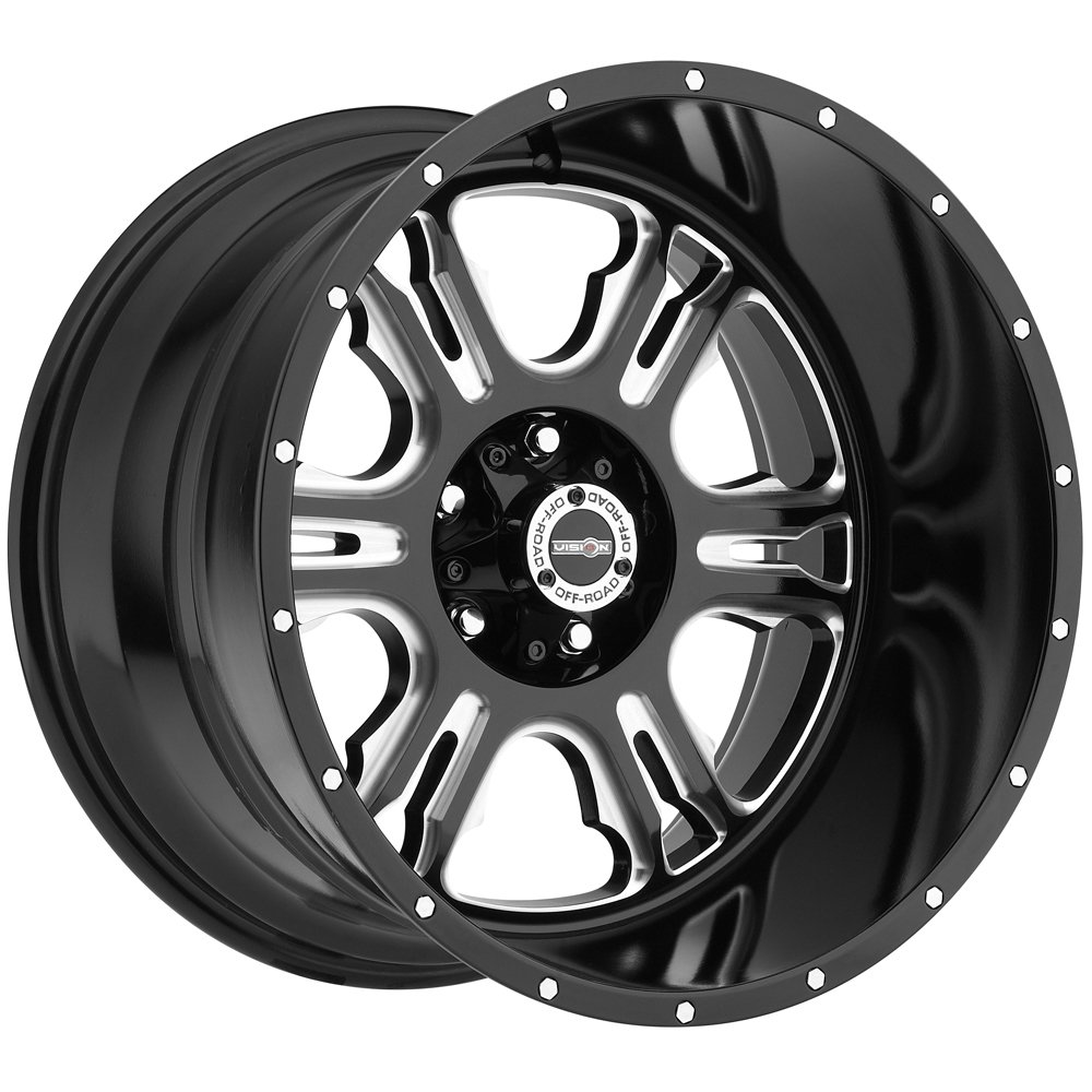 Vision 397 Rage Milled Spoke Wheel with Milled Finish (20x12''/8x180mm)