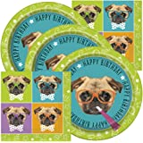 Pug Themed Birthday Party Napkins and Plates