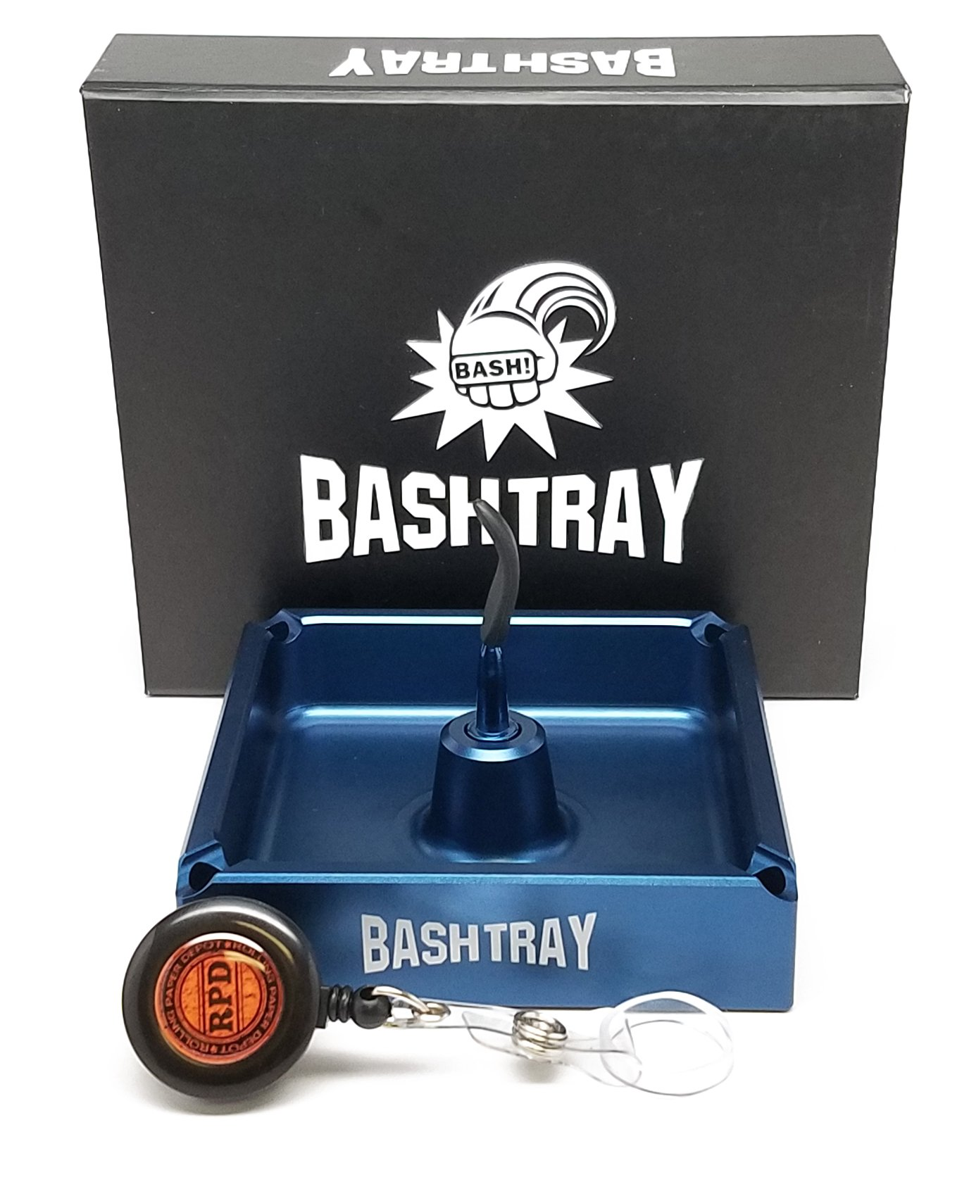 Bakers Bashtray (ashtray) - Blue with RPD Lighter Lasso