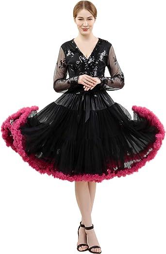 FOLOBE Traje de tutú para Mujer Baile de Ballet Falda hinchada ...