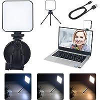 Wideokonferencja oświetlenie LED na laptop, lampa wideo ze statywem i przyssawką, zestaw oświetleniowy do…