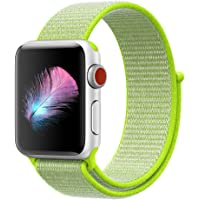 HILIMNY para Correa Apple Watch 38MM 42MM, Suave Nylon iWatch Correa, para Series 3, Series 2, Series 1, Nike+, Edition, Hermes