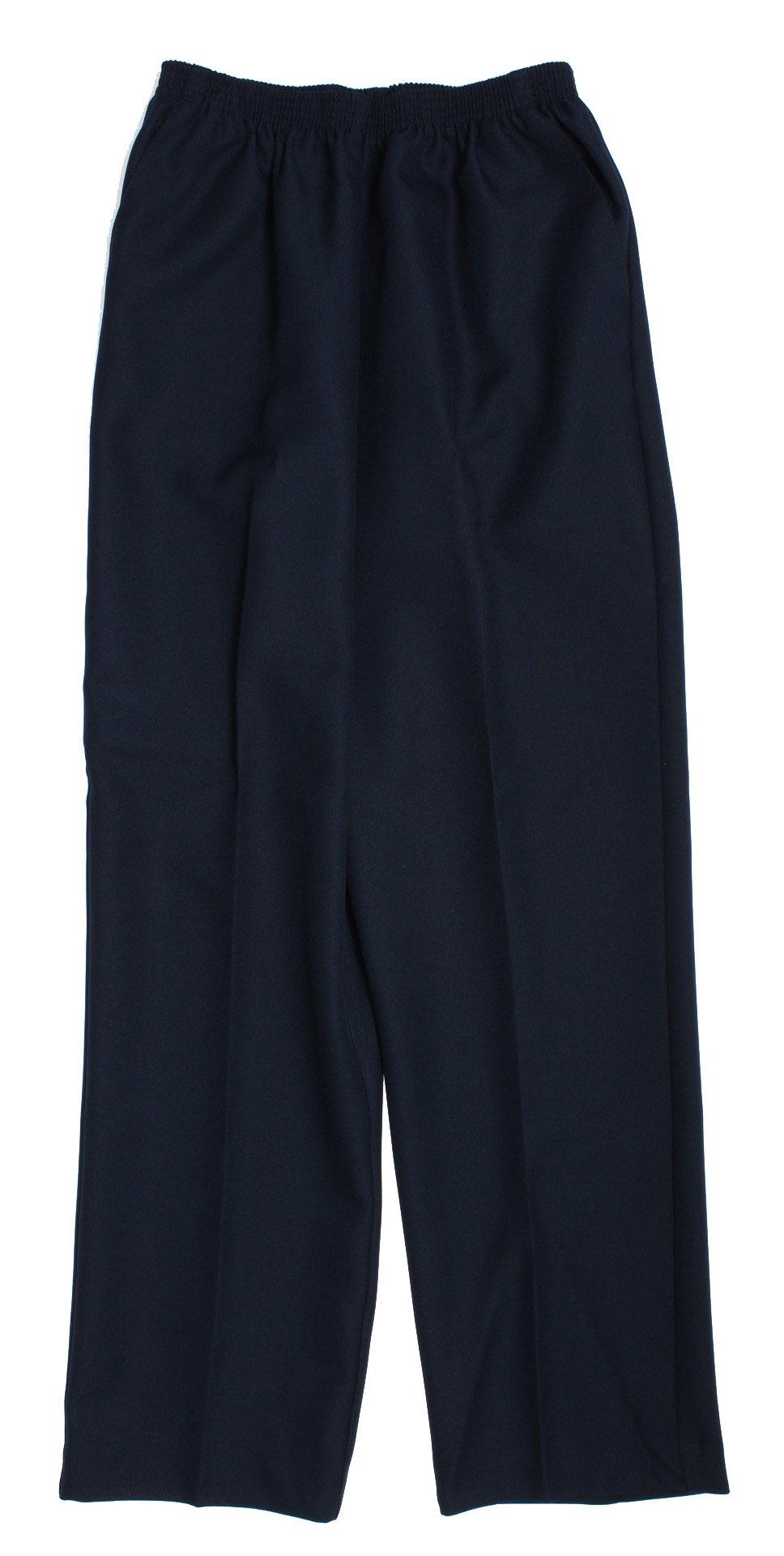 Alfred Dunner Classics Petite Elastic Waist Pants Navy 10P M