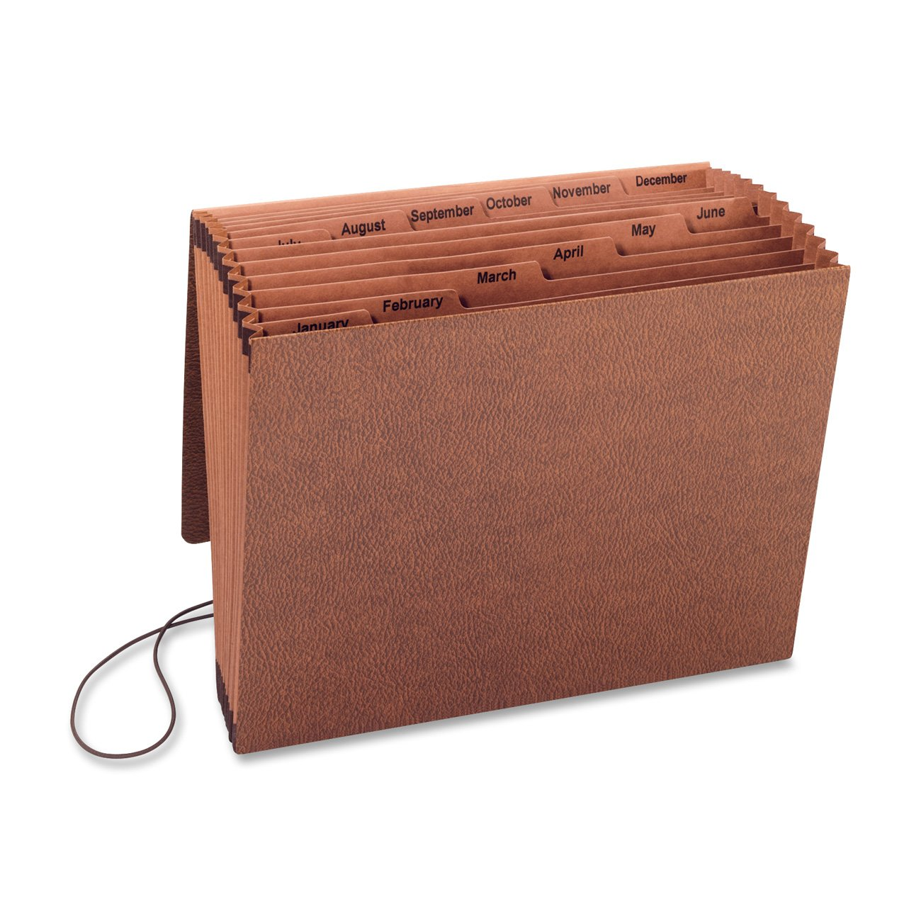 S.P. Richards Company Accordion File with Flap, Jan-Dec, 12 Pocket, Letter, 12 x 10 Inches, Brown (SPR23682) S.P. Richards CA