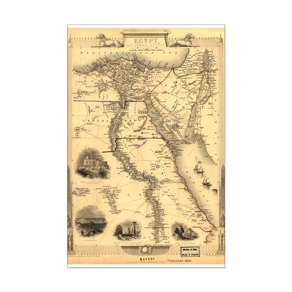 picture relating to Ancient Egypt Map Printable called : CafePress - Historic Egypt Map - Mini Poster