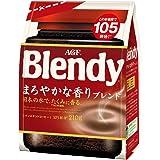 AGF ブレンディ まろやかな香りブレンド 袋 210g 【 インスタントコーヒー 】【 水に溶けるコーヒー 】【 詰め替え エコパック 】