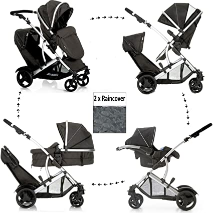 DUETT2 HAUCK - Sistema de viaje para cochecito de bebé, doble ...