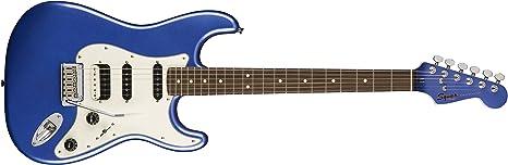 Squier por Fender Stratocaster Guitarra eléctrica contemporánea – HSS – palisandro diapasón – Océano azul metálico: Amazon.es: Instrumentos musicales