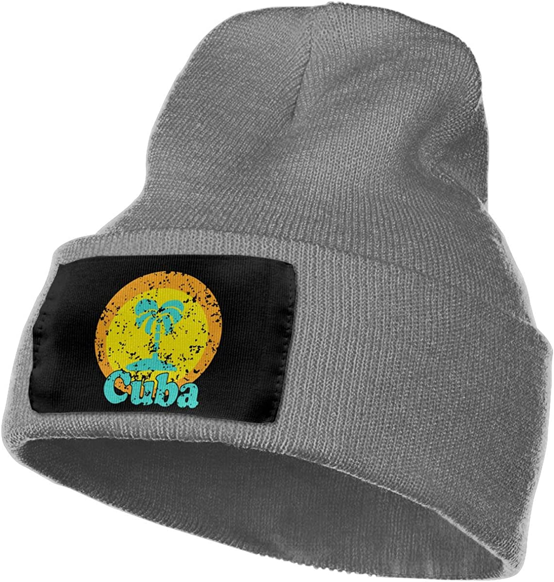 Vintage Cuba Outdoor Winter Warm Knit Beanie Hat Cap for Men//Women