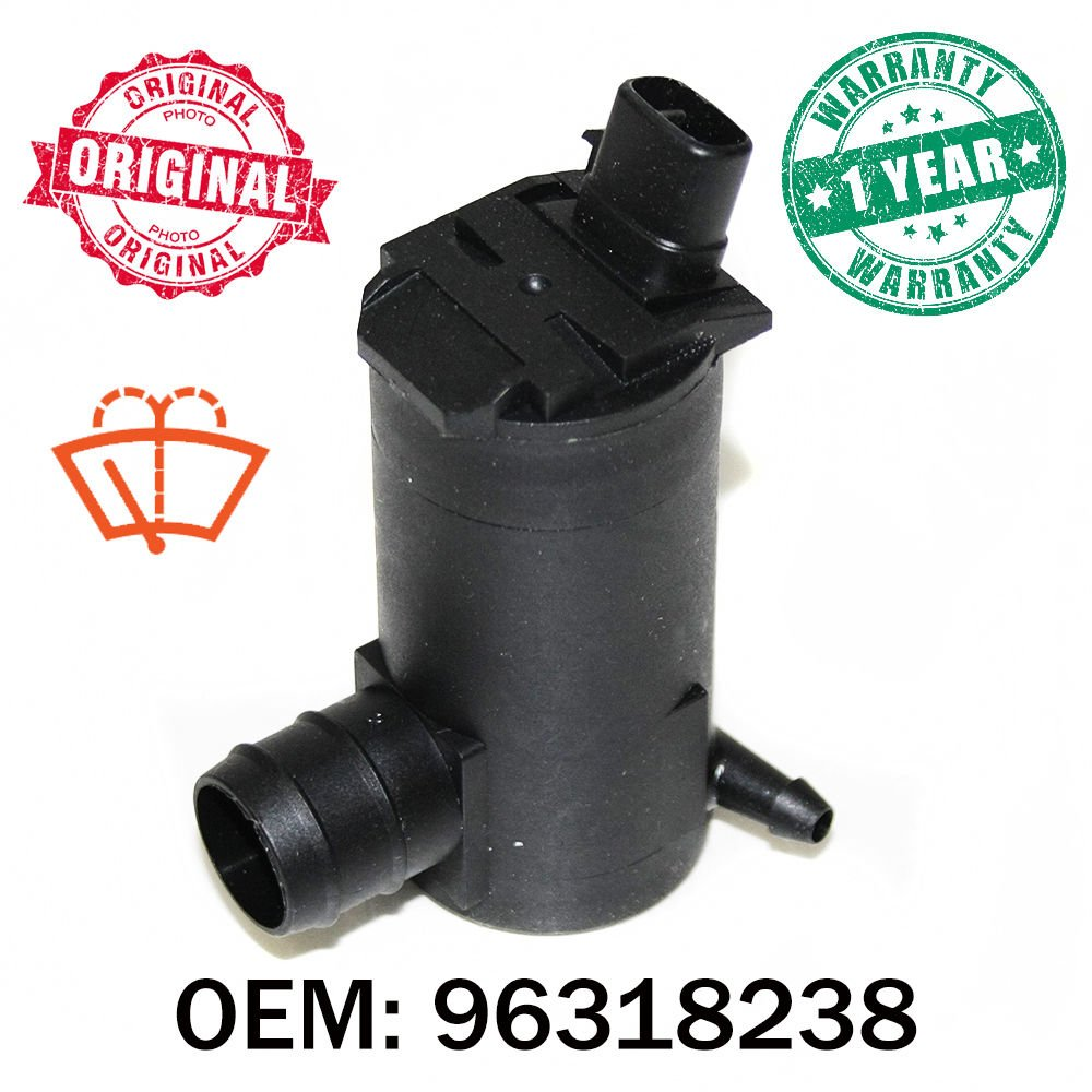 12 V trasera limpiaparabrisas parabrisas arandela bomba de fluido OEM 96318238: Amazon.es: Coche y moto