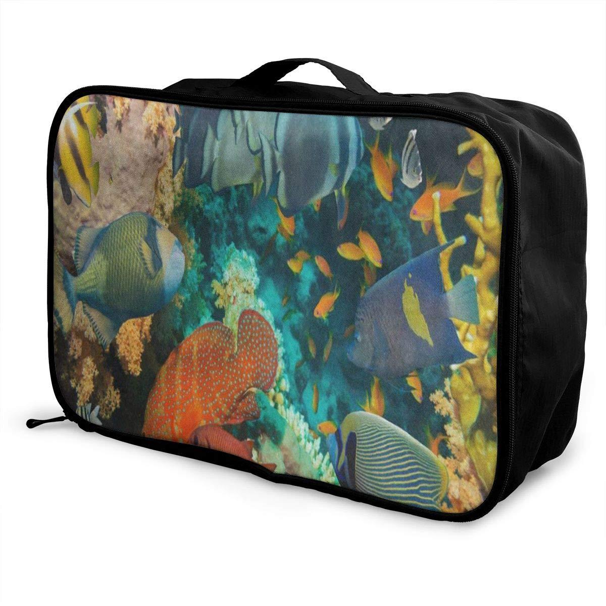 Travel Bags One Flamingo Bird On Beach Portable Foldable Marvellous Trolley Handle Luggage Bag