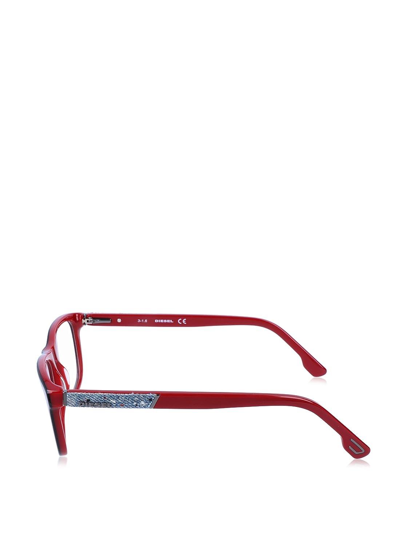 Diesel Rx Eyeglasses Frames DL5172 005 54-15-145 Shiny Black on Red