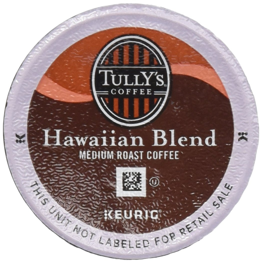 Tully's Hawaiian Blend Coffee K-Cup, 48 Count (Packaging May Vary)