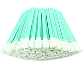 "Fasmov 100pc 5"" Square Rectangle Foam Cleaning Swab Sticks for Inkjet Print Head Optical Lens Gun Cleaning Solvent..."