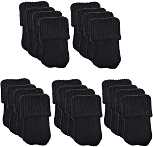 NEJLSD 20pcs Chair Socks for Hardwood Floors Knitted Furniture Socks Chair Leg Floor Protectors Chair Leg caps Protect Floors from Scratches and Reduce Noise (Black)