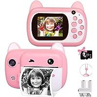Instant Print Camera for Kids, Upgrade Selfie Kids Camera, Digital Zero Ink Video Camera with 3 Rolls Print Paper Camera…