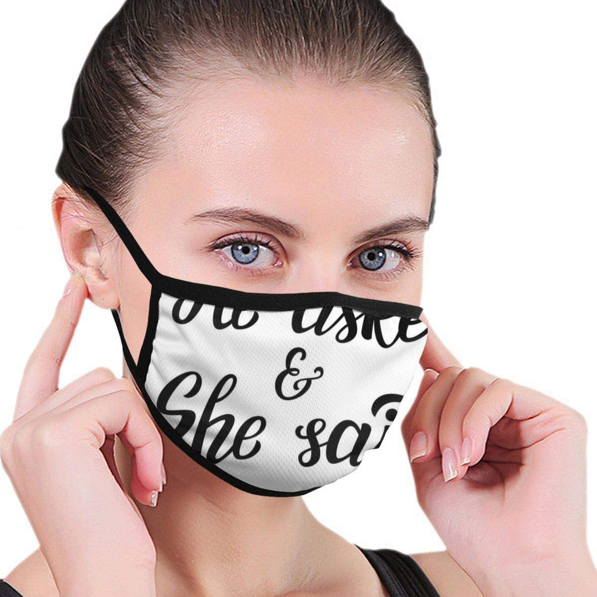 Comfortable Windproof Sports Mask Face Mask,Hand Written Oriental Design Wedding Engagement Quote,Printed Facial Decorations for Adult