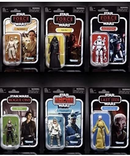 5aec06a24429 Amazon.com: Star Wars Vintage Collection 2018 Wave 1 - 3.75 Inches ...