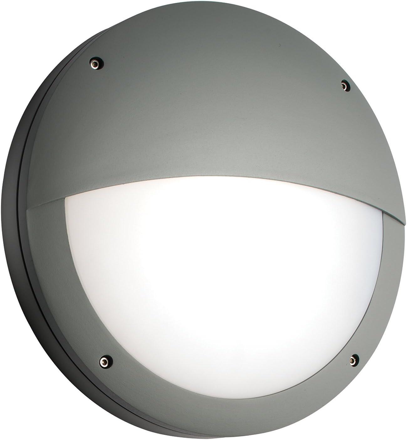 Saxby Luik 18w & 0.7w Párpado ALUMINIO GRIS EXTERIOR IP65 Slimline ...