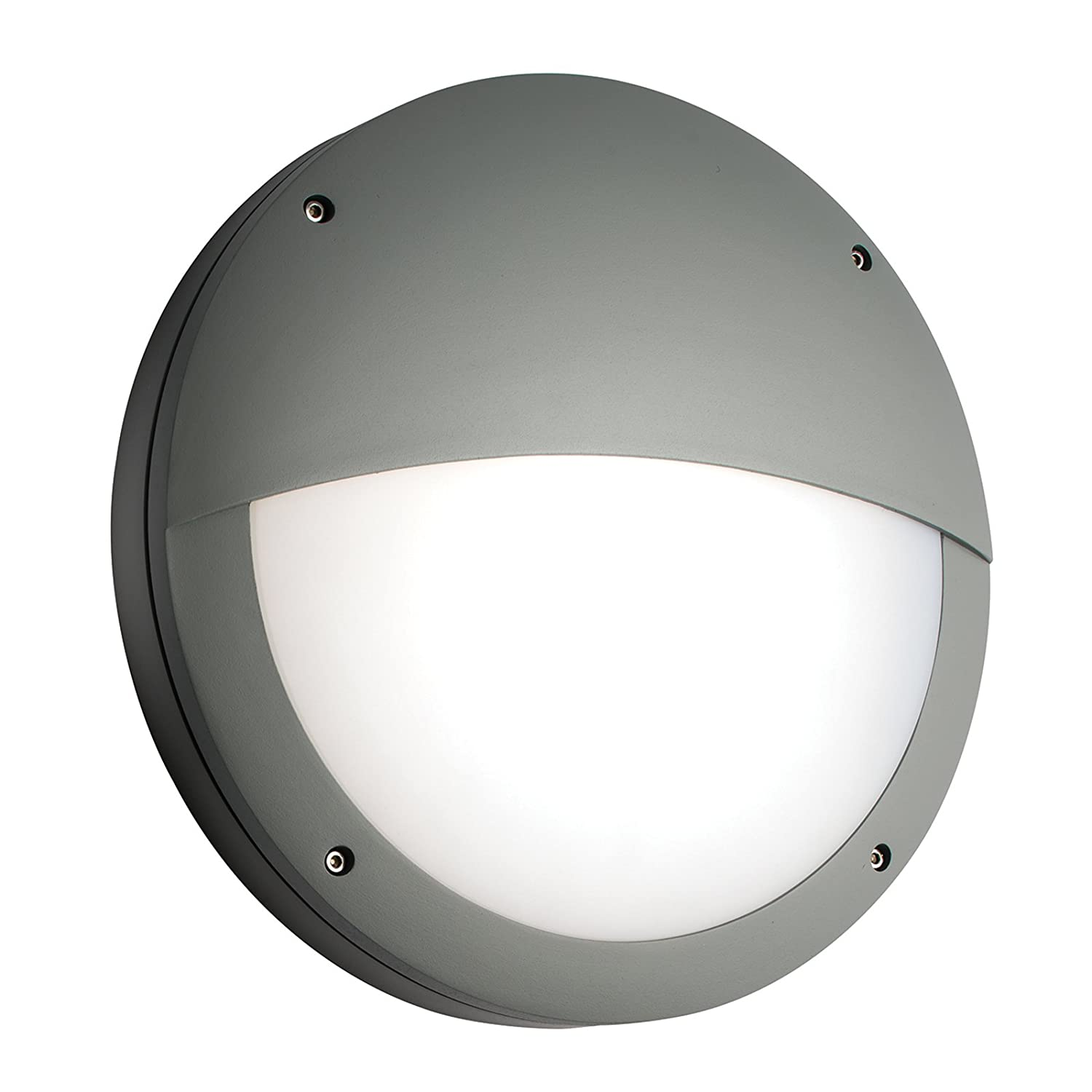 Saxby luik 18w 07w eyelid grey aluminium outdoor ip65 slimline saxby luik 18w 07w eyelid grey aluminium outdoor ip65 slimline emergency bulkhead led wall light amazon lighting mozeypictures Images