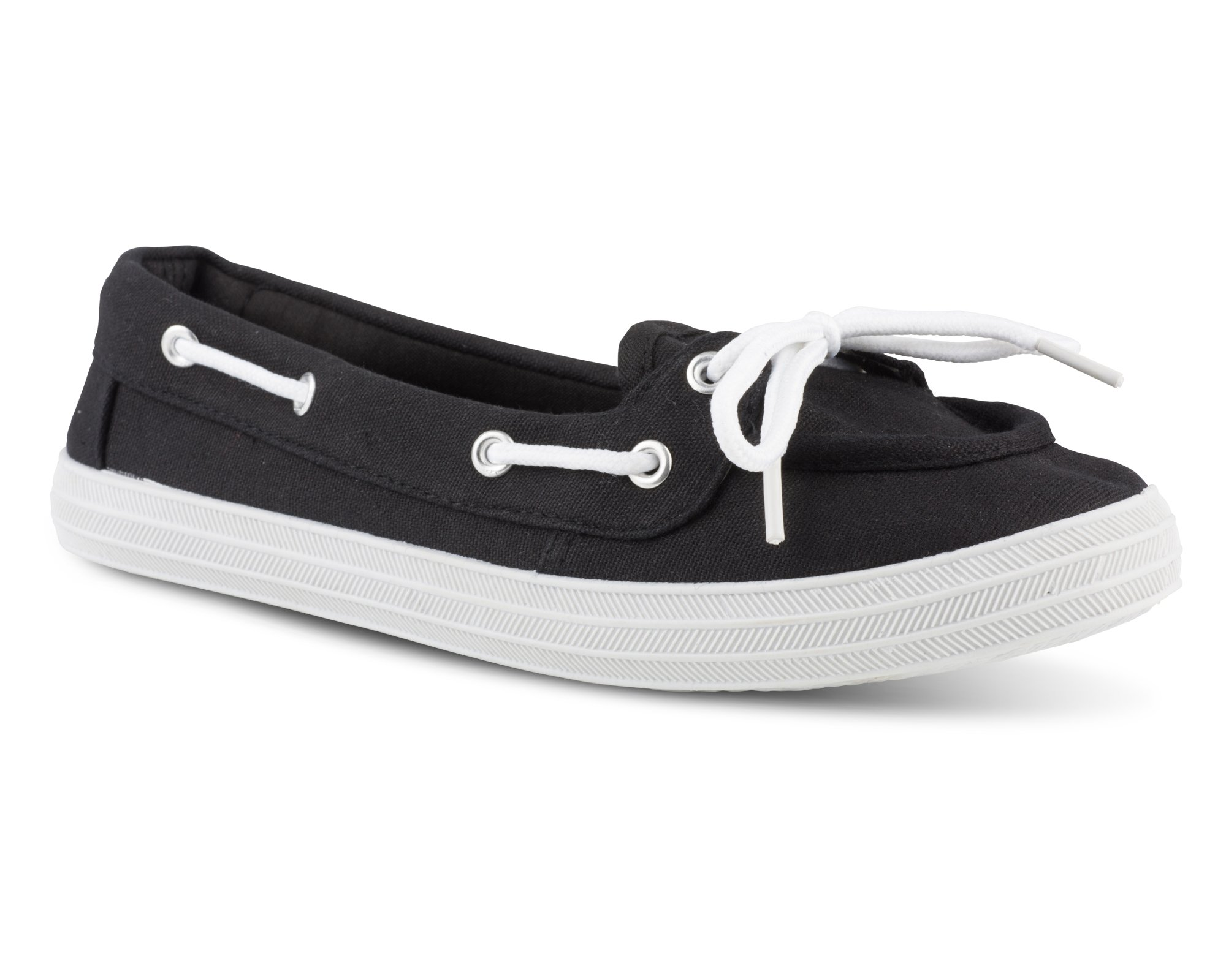 Twisted Women's Canvas Athletic Boat Shoe - CHAMPION11BLACK, Size 9