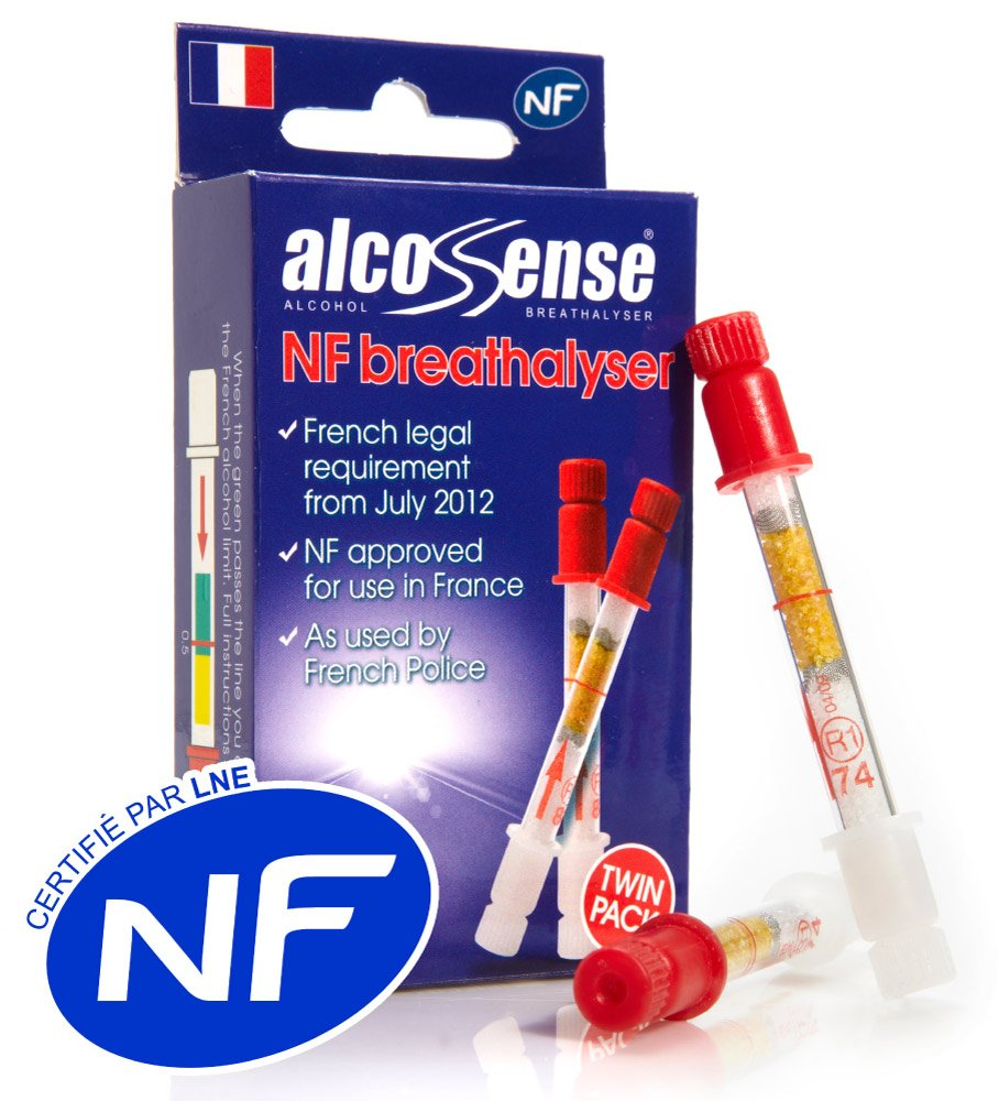 AlcoSense French NF Certified Breathalyzers for France - Breathalysers (Twin Pack) Now Group UK Ltd ALCNFTWIN