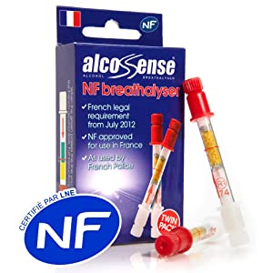 2 x AlcoSense French NF Certified Breathalyzer Kits for France (Breathalysers)