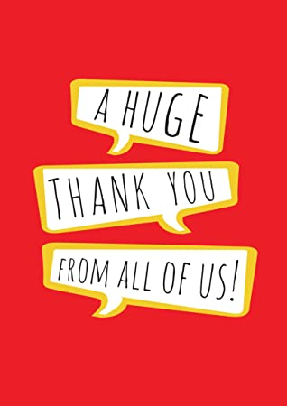 A Huge Thank You From All Of Us A4 Card Large Thank You Card