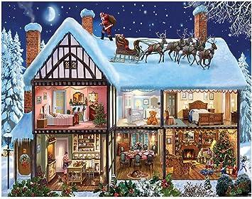 Puzzle Ocupado de Navidad Rompecabezas 500-5000 Piezas for Adultos de los niños, desafiante Rompecabezas de Madera for Adultos Arte (Elk con Santa) (Size : 5000pcs) : Amazon.es: Juguetes y juegos