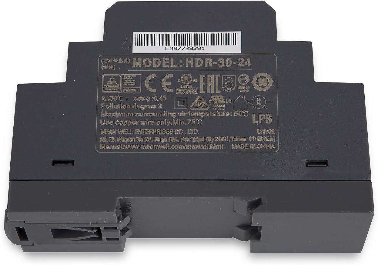 Transformador LED para iluminaci/ón LED HDR-30-24 24 V CC, 30 W