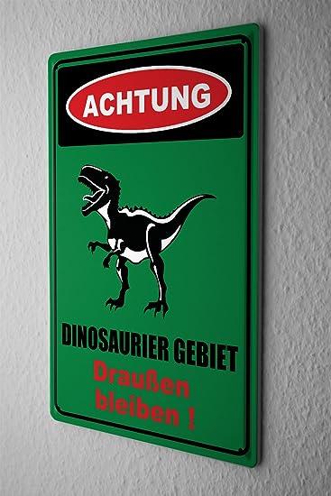 Amazon.de: Blechschild Achtung Dinosaurier Gebiet Draußen bleiben ...
