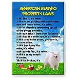 American Eskimo Dog Property Laws Fridge Magnet