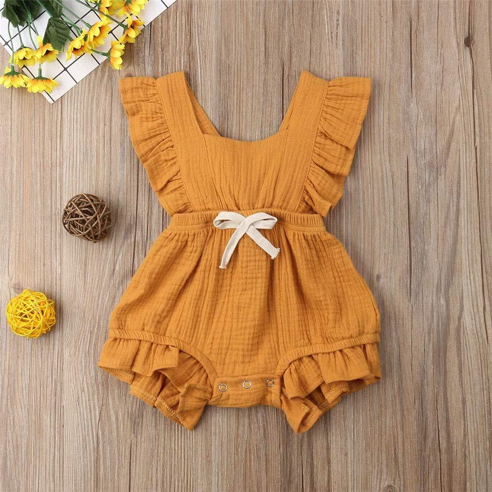 Little Girls Summer Outfits Ruffle Rompers Sleeveless Jumpsuit Clothes Set Kfnire Newborns Baby Girl Bodysuit