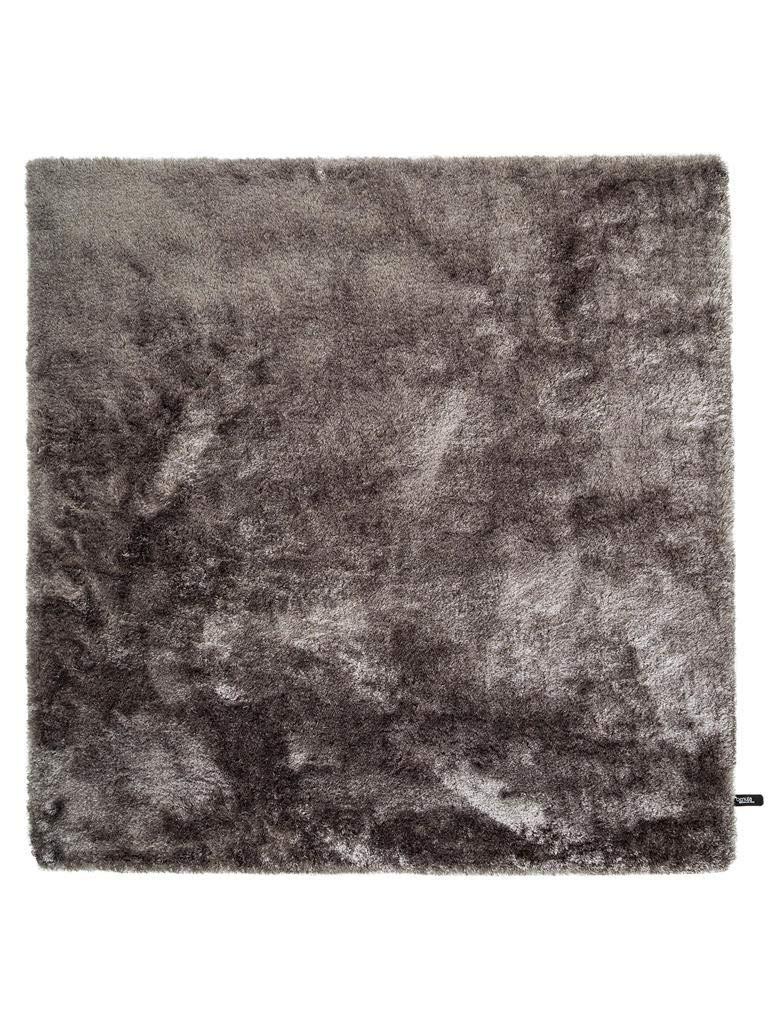 Benuta Shaggy Hochflor Teppich Whisper Quadratisch Grau 150x150 cm   Langflor Teppich für Schlafzimmer und Wohnzimmer