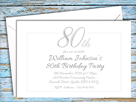 50 PARTY INVITATIONS