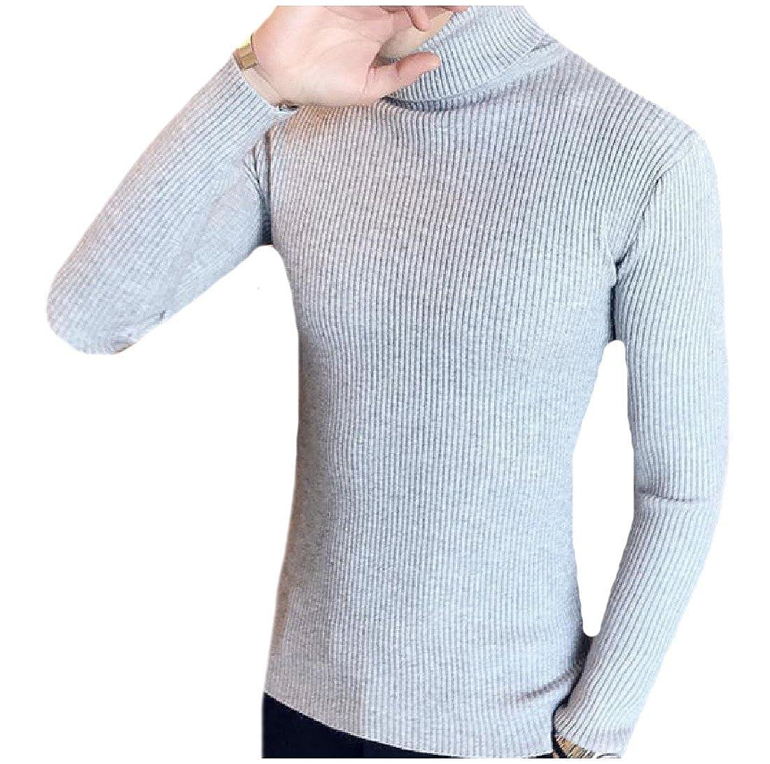 Unastar Men Trendy Pure Color Western Regular Fit Knitted Pullover