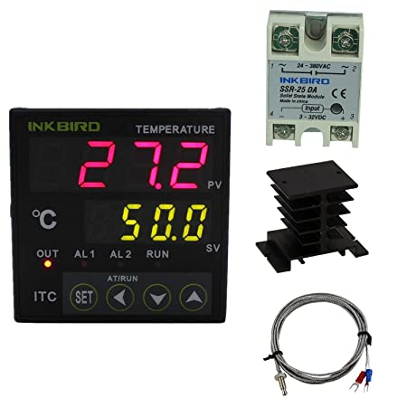 inkbird pid temperature controller thermostat itc 100vh 230v one ssr rh amazon co uk