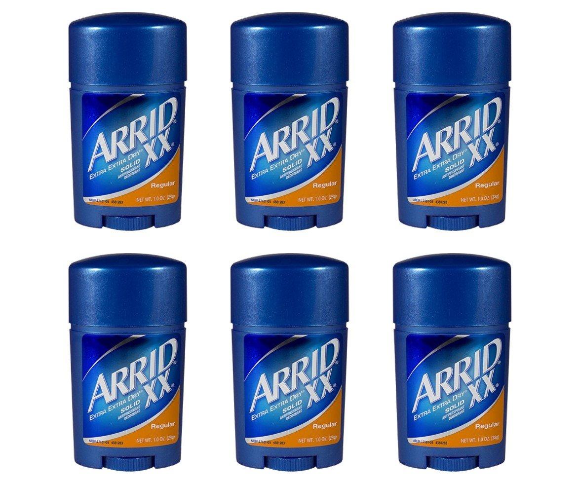 Arrid XX Regular Solid Extra Extra Dry Antipersirant Deodorant 1 oz Travel Size (Pack Of 6)
