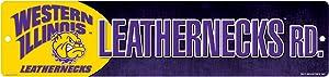 NCAA Western Illinois Leathernecks 16-Inch Plastic Street Sign Décor