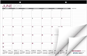 "Desk Calendar 2019-2020: 11""x17"" - (Runs from June 2019 Through December 2020)"