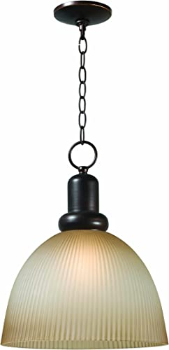 World Imports 9311-29 Loft Collection Single Light Iron Pendant, Euro Bronze