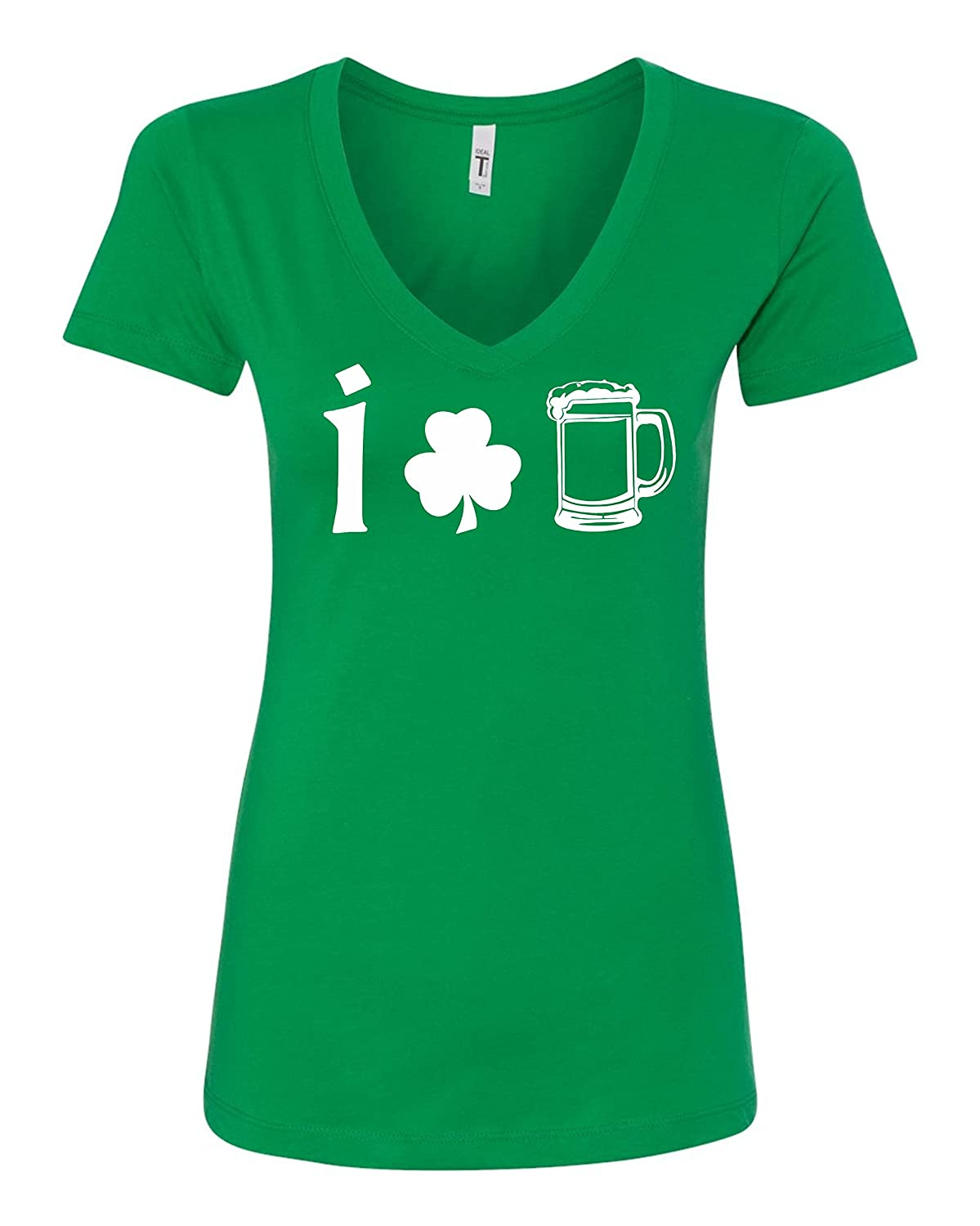 c4bb3023c21 high-quality I Love Beer Irish Day St. Patrick s Day Shamrock V-Neck ...