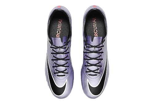 Nike Mercurial Vapor X FG Botines De Fútbol (Lilac Urbano/Negro/Brillante Mango